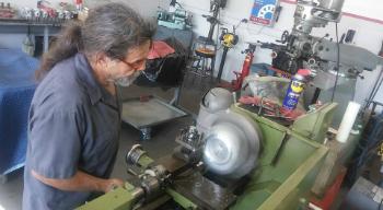 Sergio Working on parts